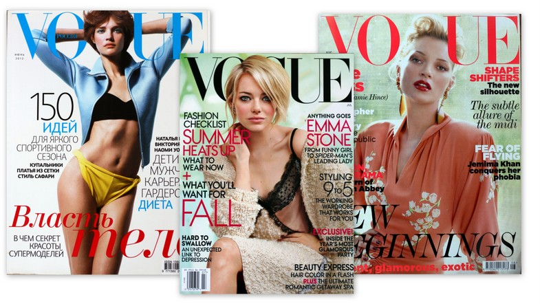 Vogue covers Russia UK USA