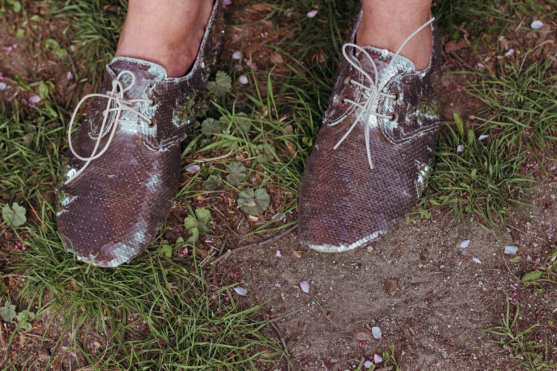 Cekinowe buty